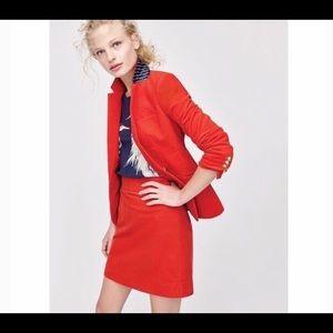 Sz 4 Jcrew Red Corduroy mini skirt